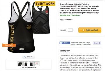 10.000$ über? Dann könnt ihr euch ein getragenes Tank Top von Ronda Rousey kaufen