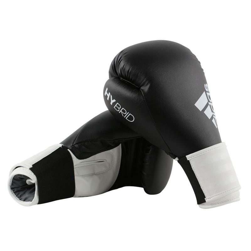 Abverkauf Sonderposten Adidas Hybrid 100 Boxhandschuhe Schwarz