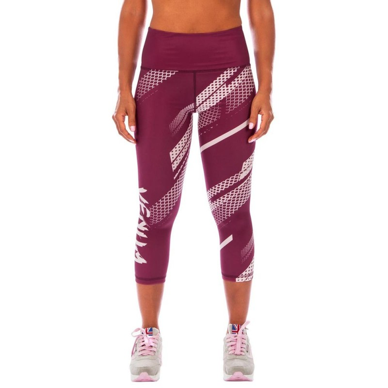 Abverkauf Venum Rapid Crops Leggings Women Plum