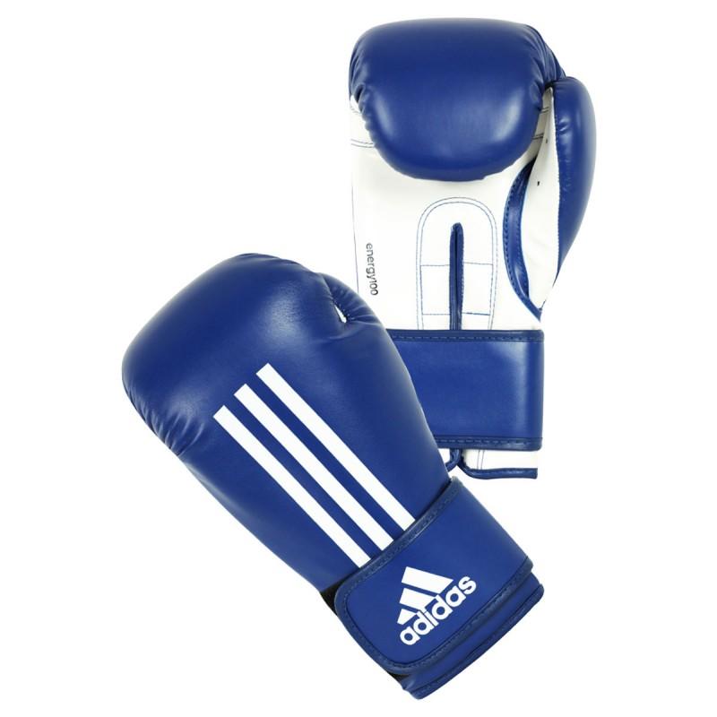 Abverkauf Adidas Energy 100 Boxhandschuhe Blau Weiss