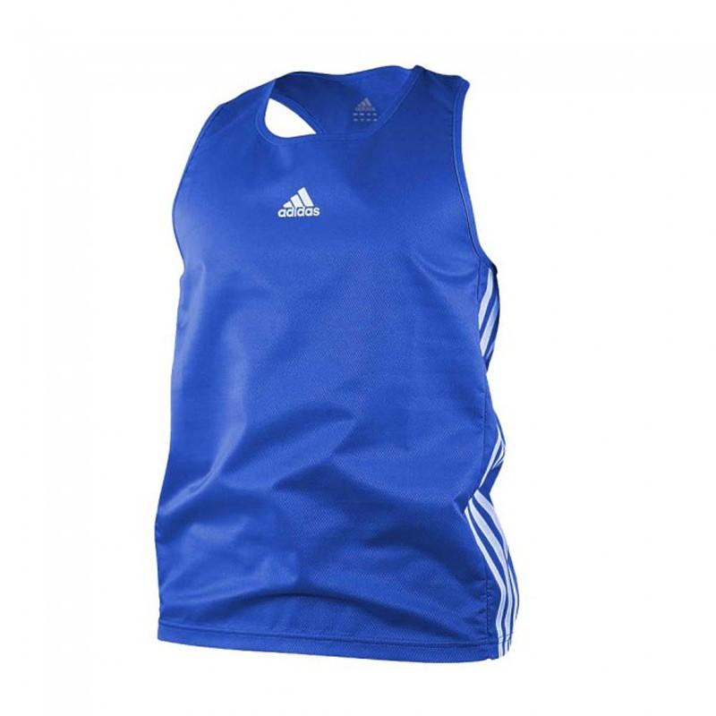 Adidas Boxing Top Punch Line Blau Weiss