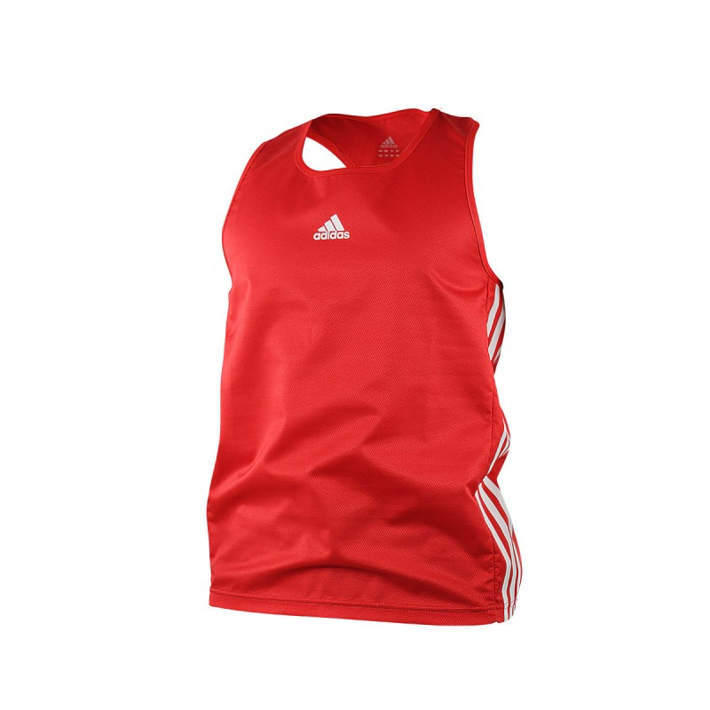 Adidas Boxing Top Punch Line Rot Weiss