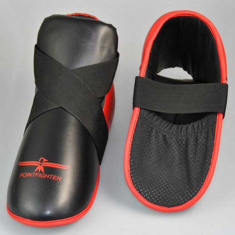Abverkauf Phoenix Fussschutz Kunstleder Rot Schwarz Zehentasche