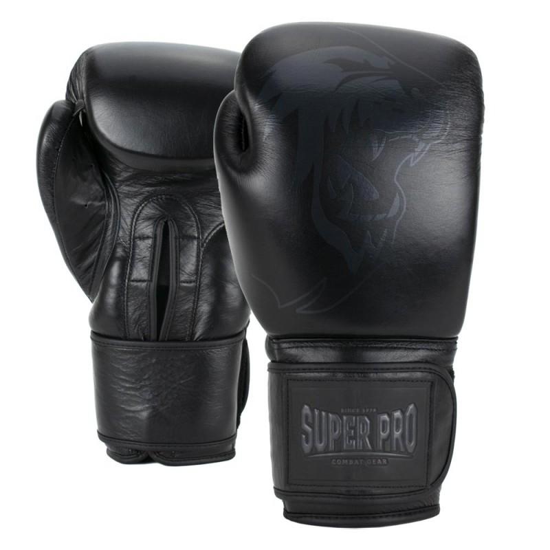 Super Pro Legend Boxhandschuhe Leder Schwarz