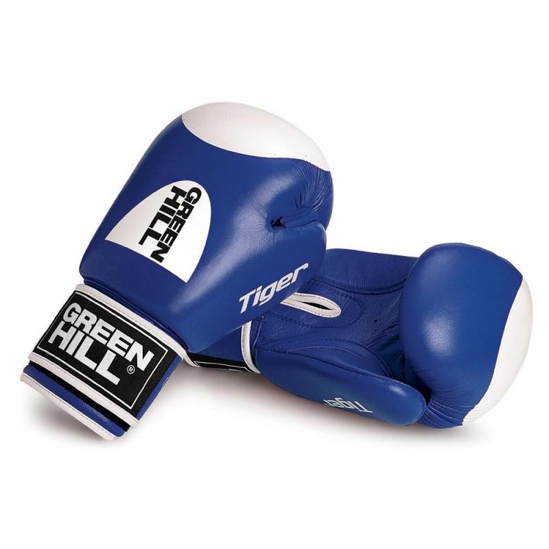 Green Hill TIGER Boxhandschuhe blau Mit Trefferfläche