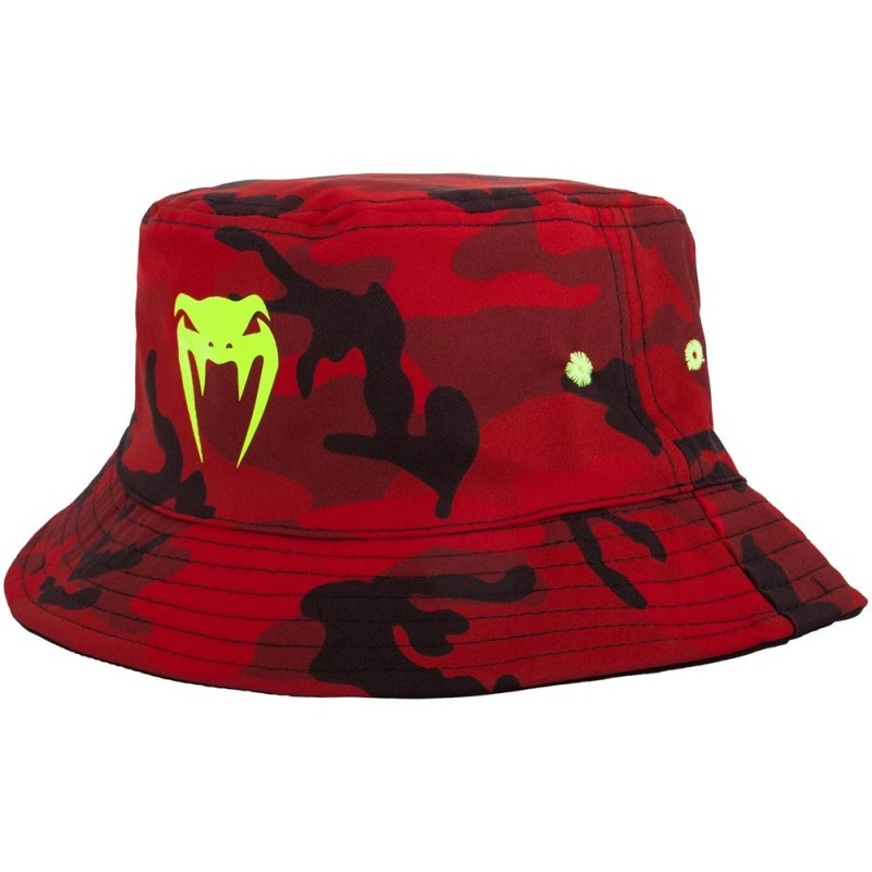 Abverkauf Venum Atmo Bucket Hat Reversible Red Camo