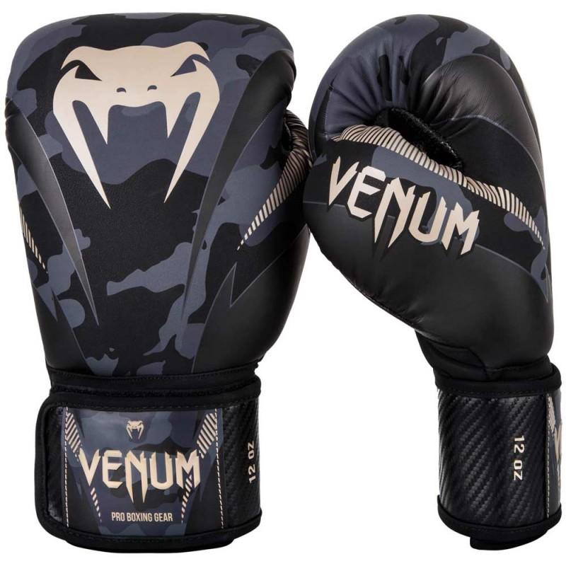 Venum Impact Boxing Gloves Dark Camo Sand