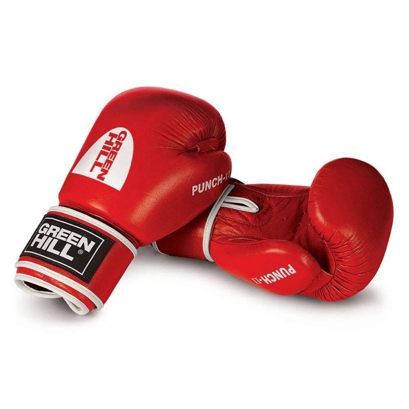 Green Hill Punch II Boxhandschuhe rot Leder