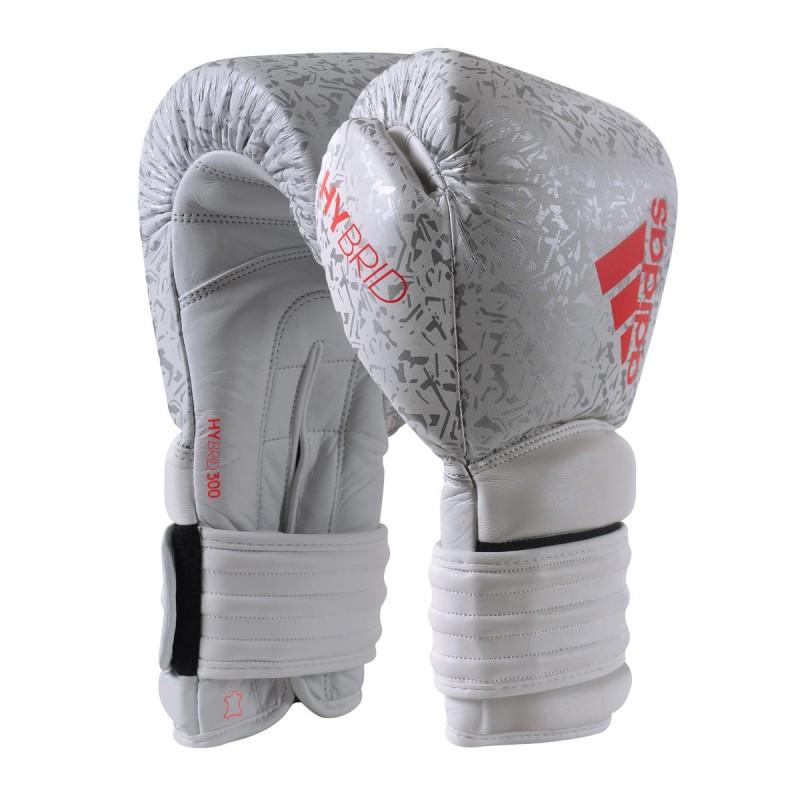 Adidas Hybrid 300 Pro Boxhandschuhe 12oz White Ltd Edition