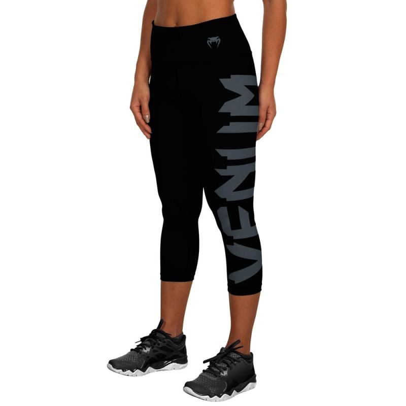 Venum Giant Leggings Crops Women Black Grey