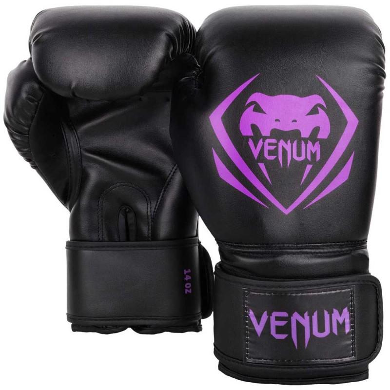 Venum Contender Boxing Gloves Black Purple