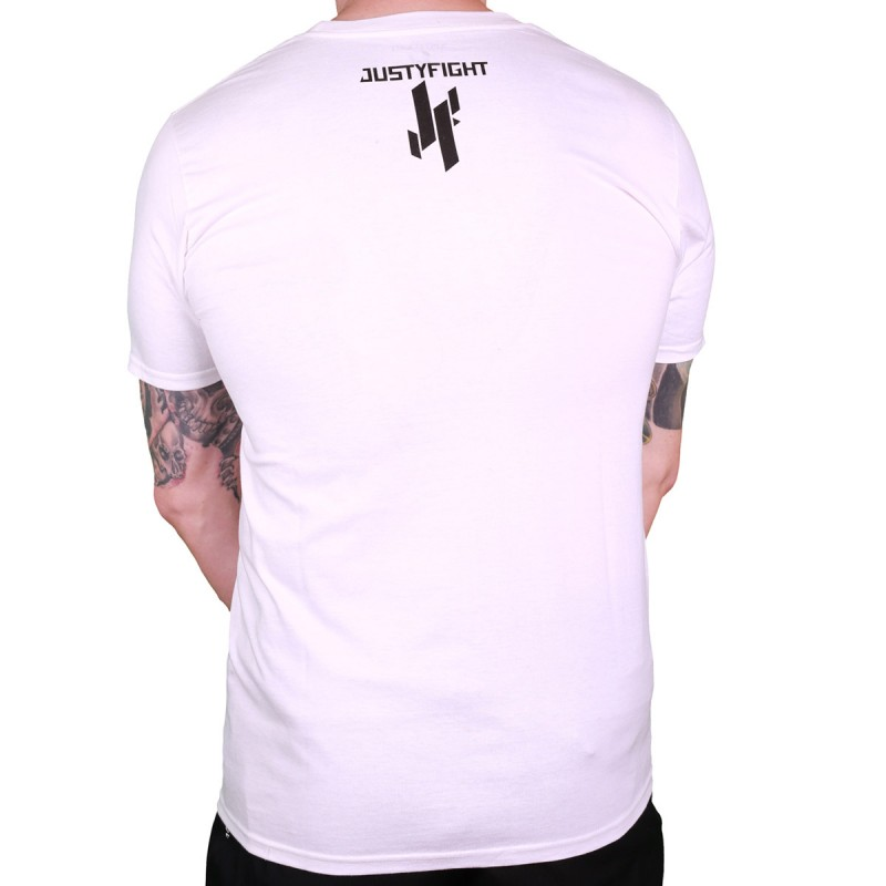 Abverkauf Justyfight Logo T-Shirt Weiss