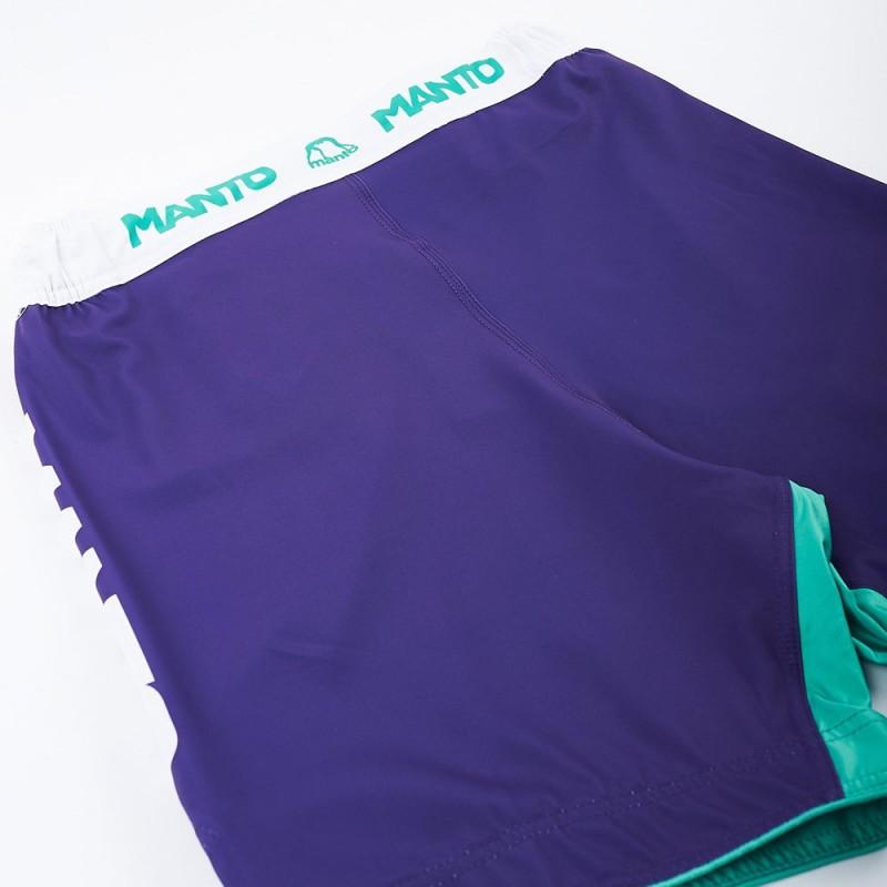 Manto Stripe Fightshorts Purple
