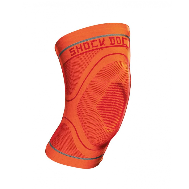 Abverkauf Shock Doctor Compression Knit Knee Sleeve Gel Support Orange Gr L