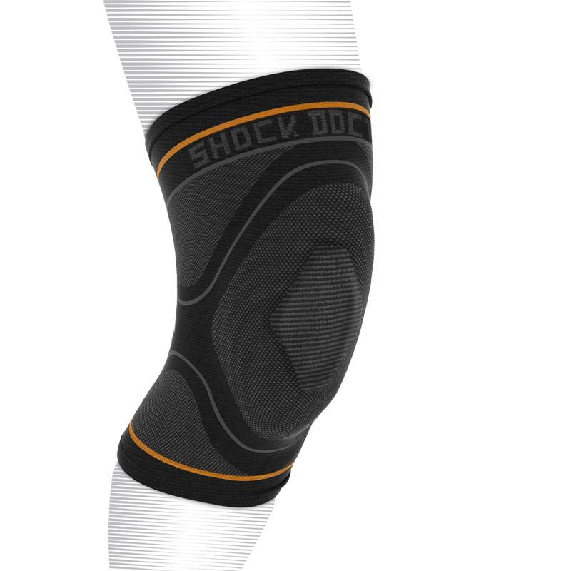 Abverkauf Shock Doctor Compression Knit Knee Sleeve Gel Support Black