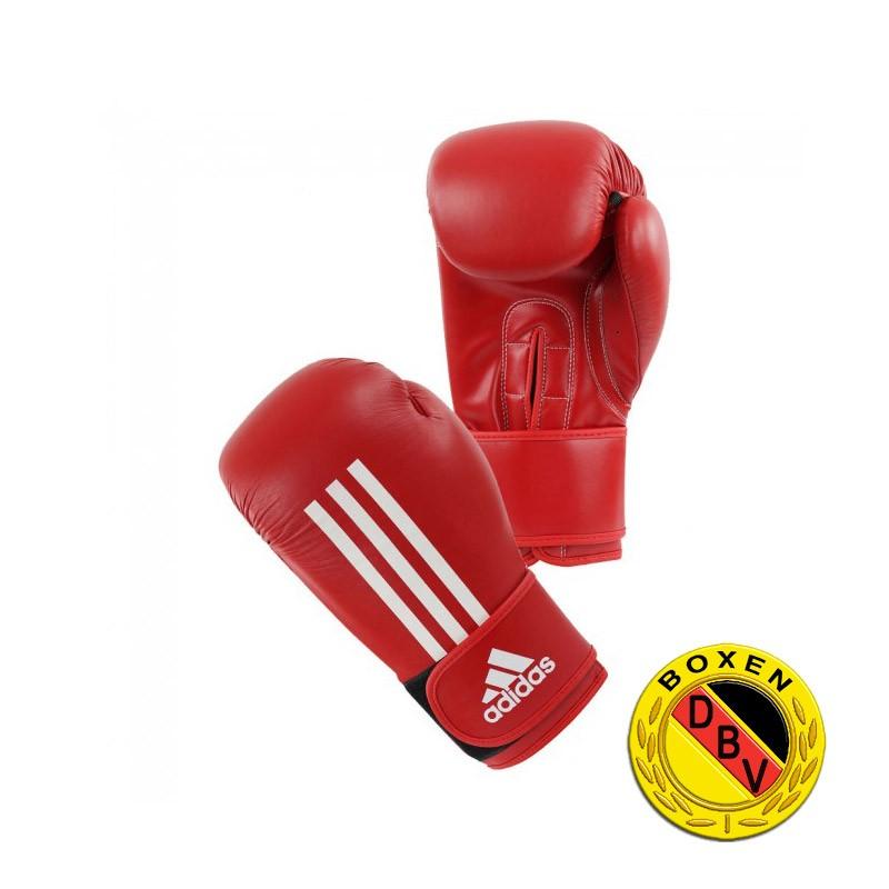 Abverkauf Adidas Energy 200C Boxhandschuhe rot mit DBV