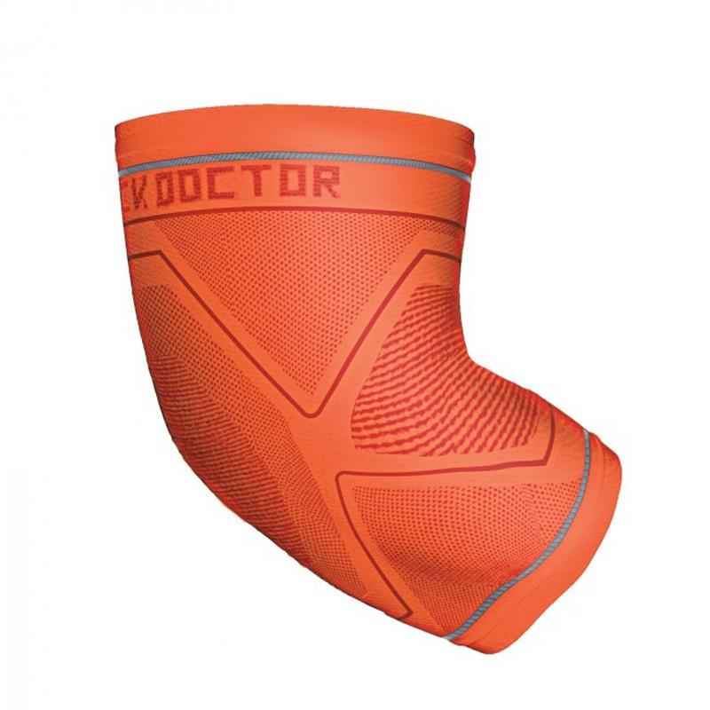 Abverkauf Shock Doctor Compression Knit Elbow Sleeve Gel Support Orange