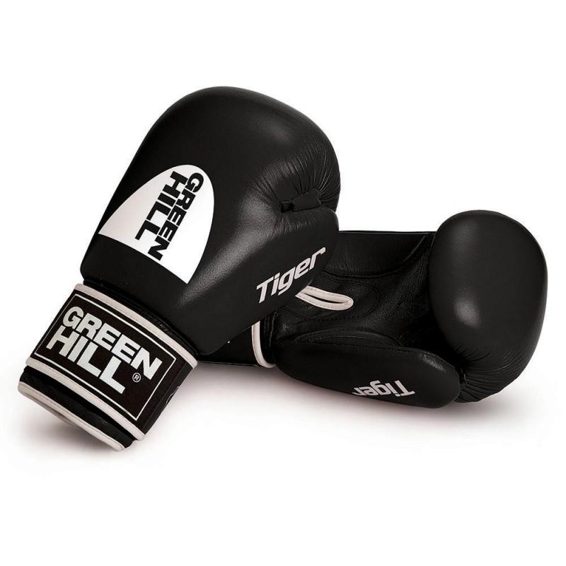 Green Hill Tiger Boxhandschuhe Schwarz Ohne Trefferfläche