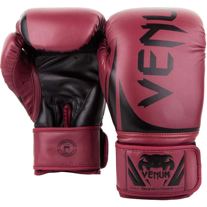 Venum Challenger 2.0 Boxing Gloves Red Wine Black