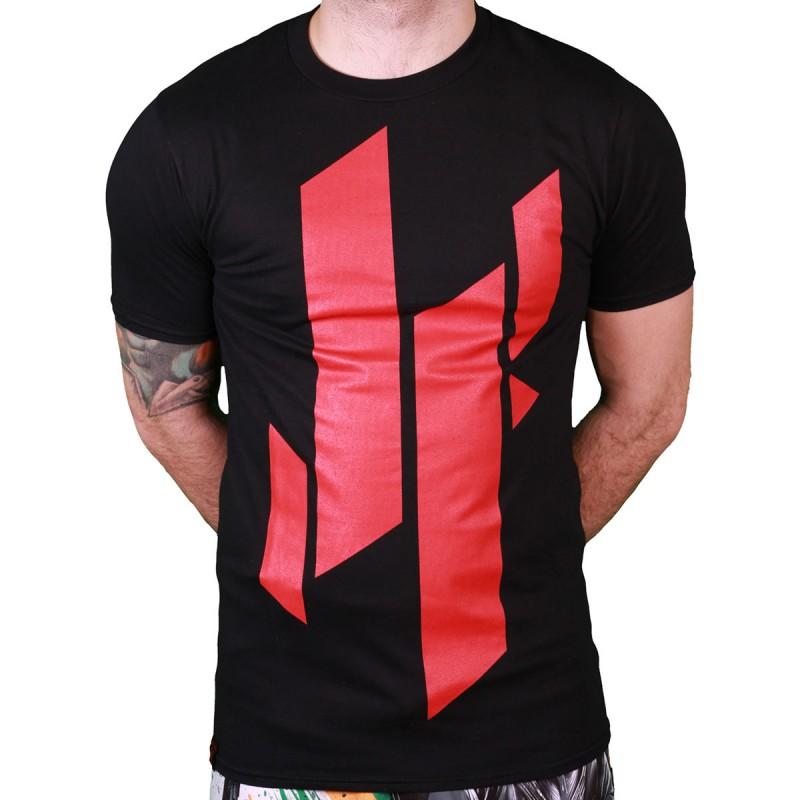 Abverkauf Justyfight Logo T-Shirt Schwarz