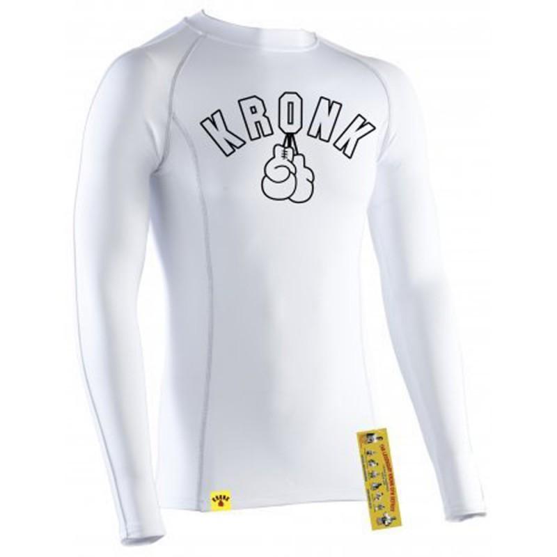 Kronk Performance Baselayer Gloves LS T-Shirt White