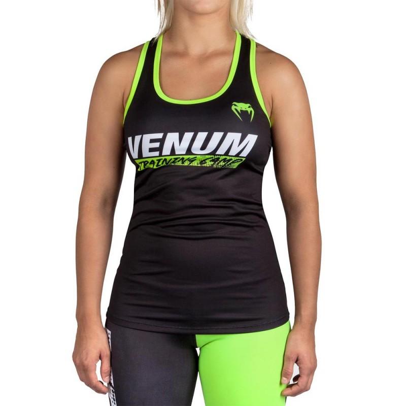 Venum Training Camp Women Tank Top Black Neo Yellow