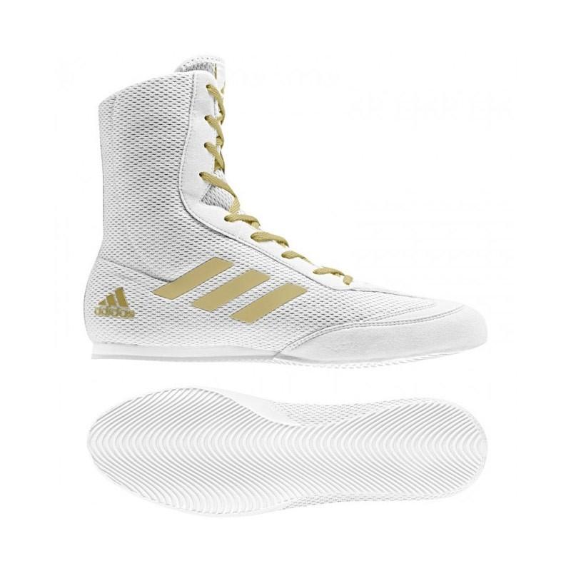 Abverkauf Adidas Box Hog Plus Boxstiefel DA9899 White Gold