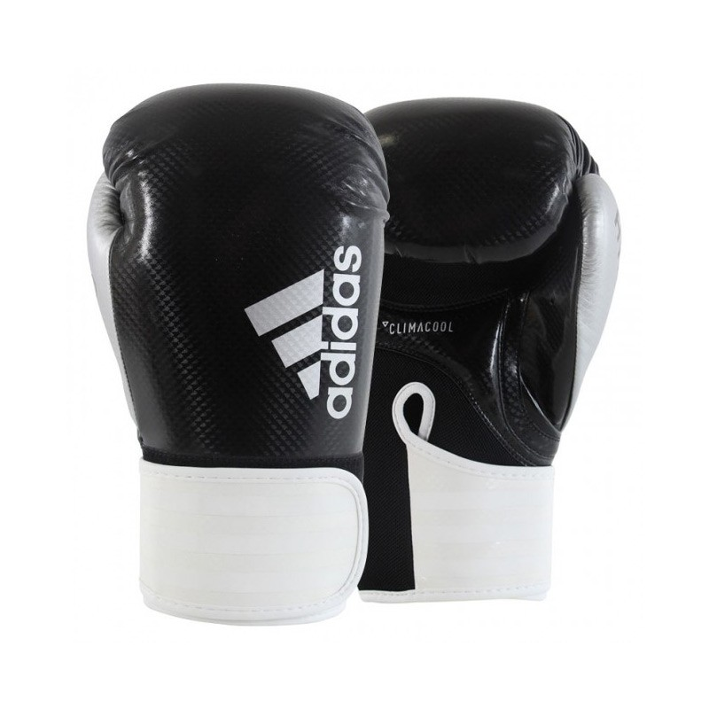 Abverkauf Adidas Hybrid 75 Boxhandschuhe Black White Silver