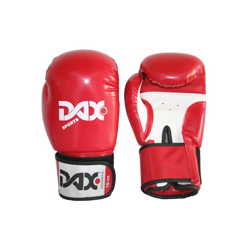 Abverkauf Dax Boxhandschuhe Onyx TT Kunstleder Rot Weiss
