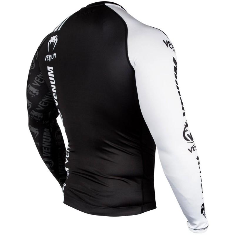 Venum Logos Rashguard LS Black White