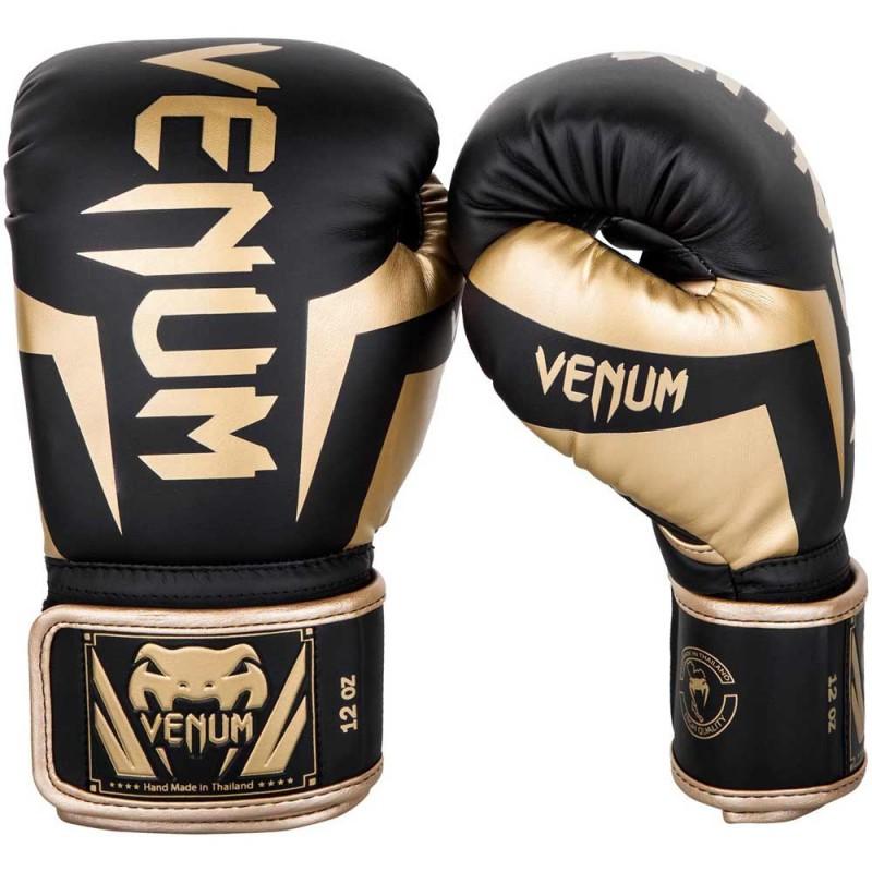 Venum Elite Boxing Gloves Black Gold