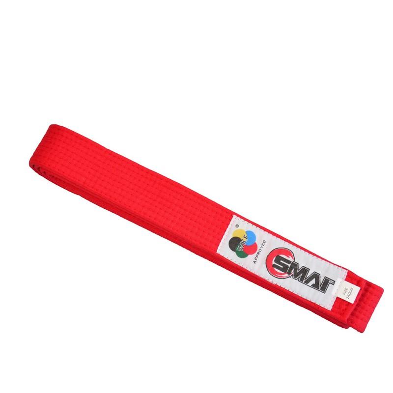 SMAI WKF Wettkampfgürtel Rot