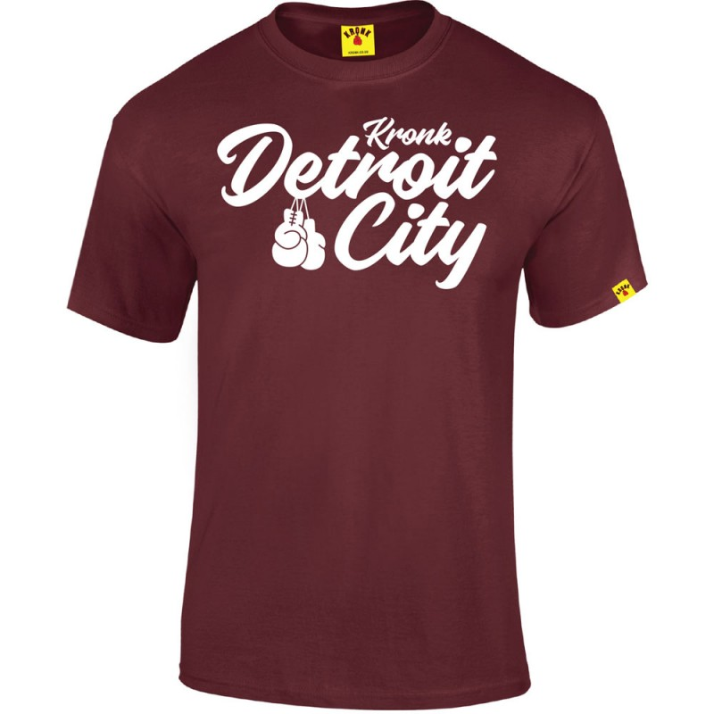 Kronk Boxing Detroit City T-Shirt Maroon