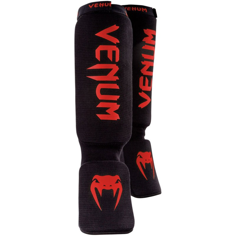 Venum Kontact Shinguard Black Red