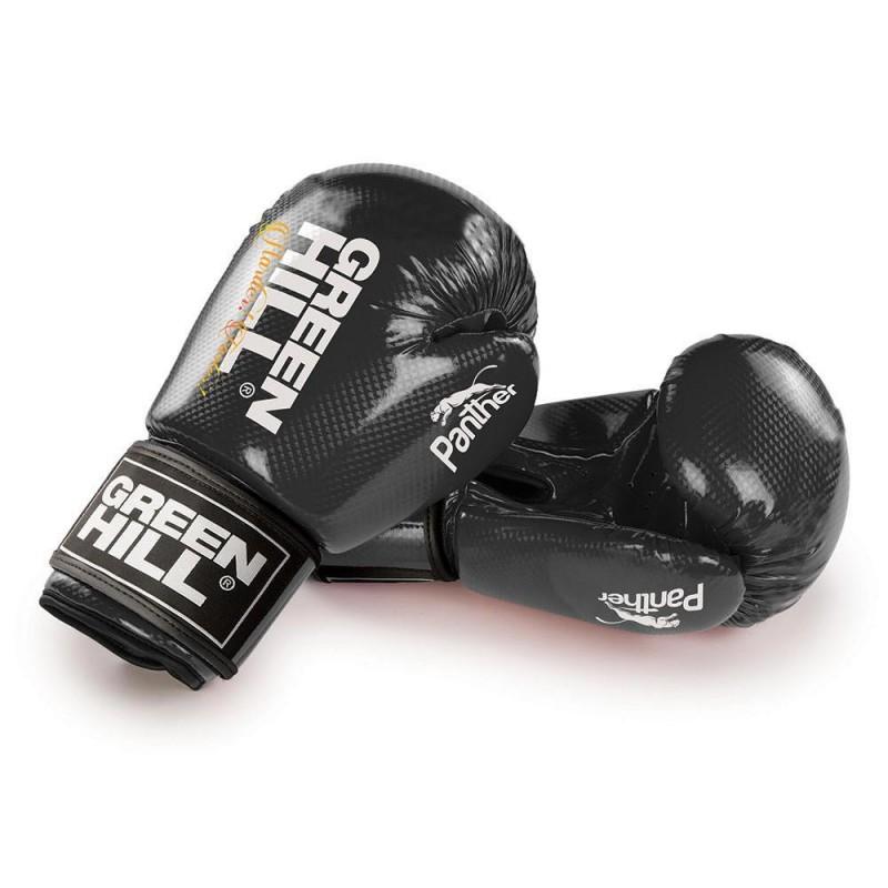 Green Hill Panther Boxhandschuhe Schwarz Ohne Trefferfläche
