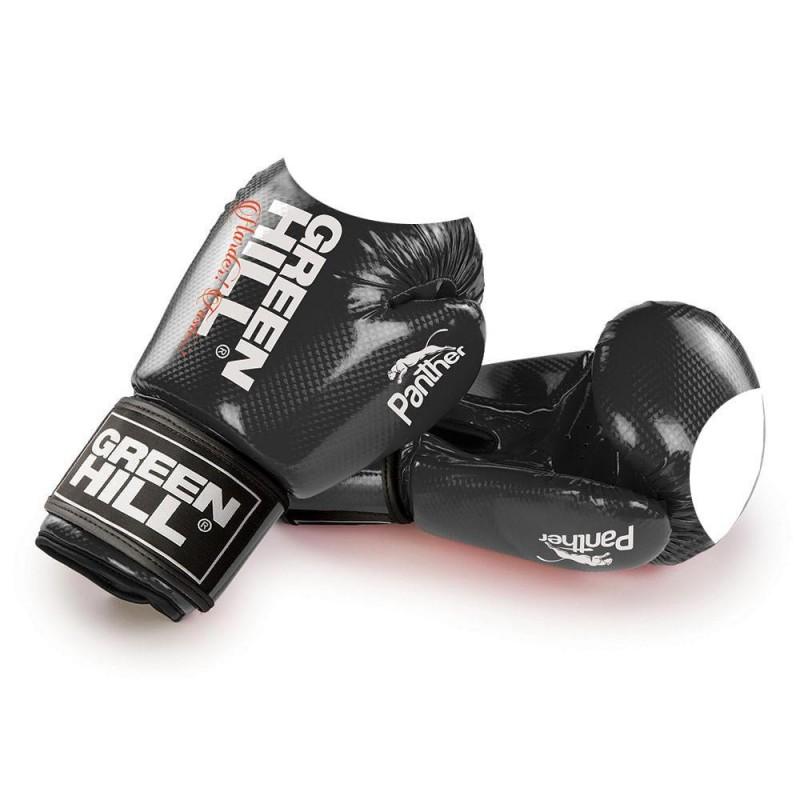 Green Hill Panther Boxhandschuhe Schwarz Mit Trefferfläche