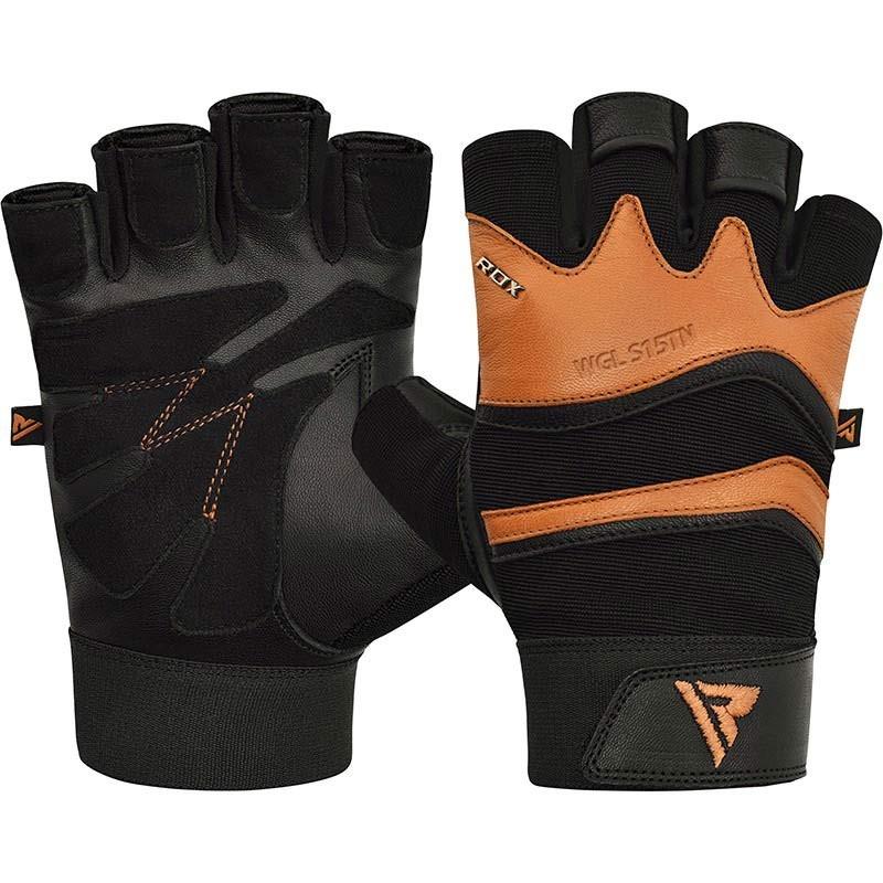 RDX Gym Handschuh Leder S15 beige