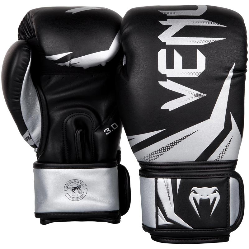 Venum Challenger 3.0 Boxing Gloves Black Silver