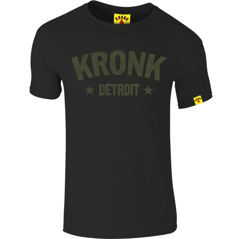 Kronk Detroit Stars Slim Fit T-Shirt Black Olive