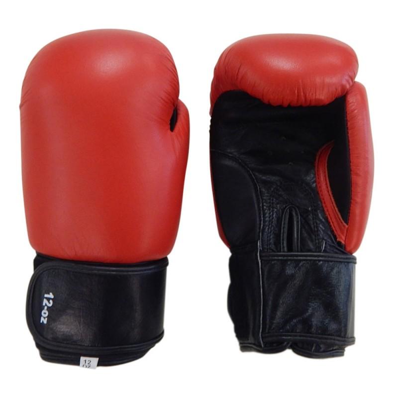 Top Modell Boxhandschuhe Leder Rot Schwarz