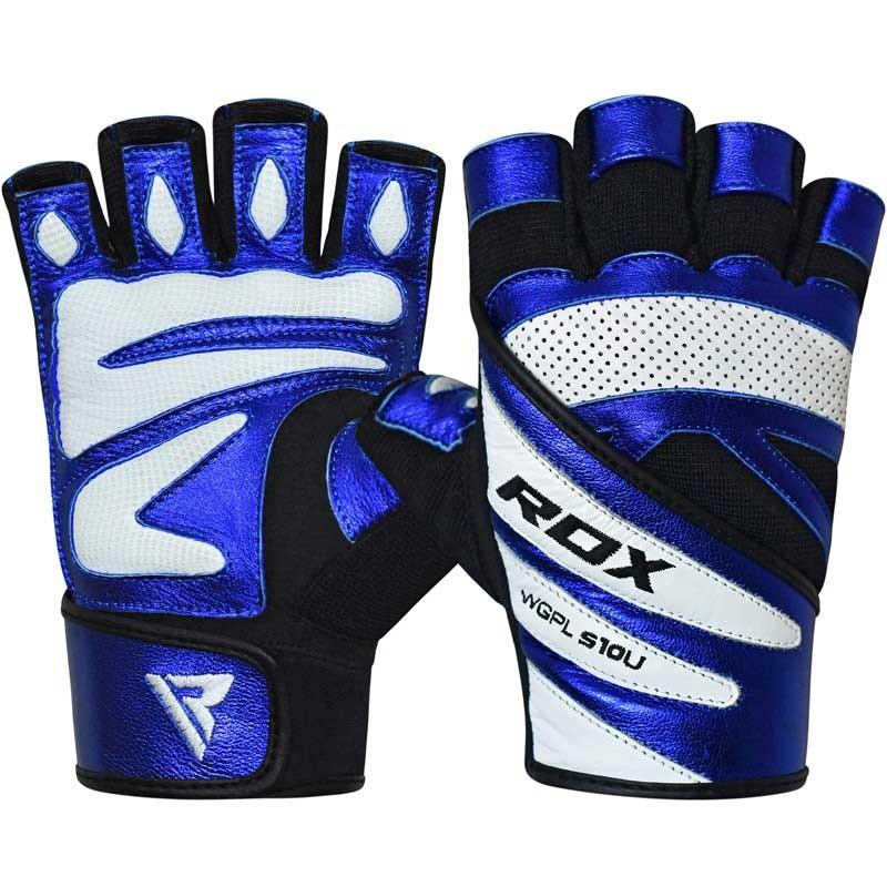 RDX Gym Handschuh Leather S10 blau