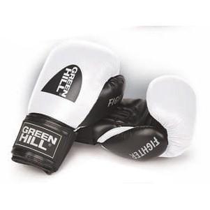 Green Hill Fighter Boxhandschuhe Weiss Schwarz