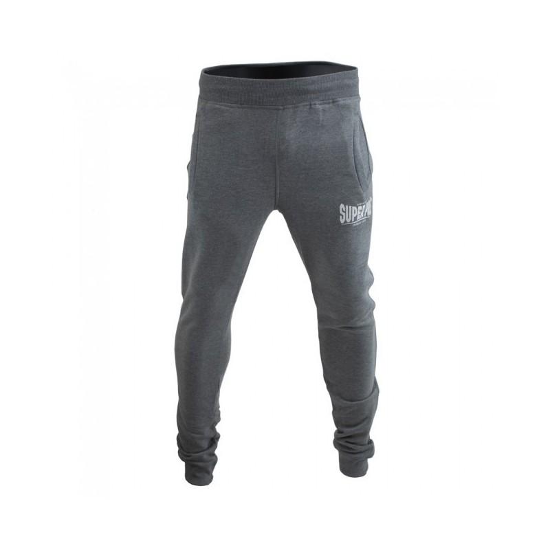 Super Pro Jogging Pants Grau Weiss