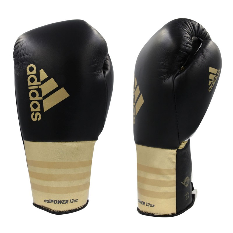 Adidas Adipower Boxhandschuhe Schwarz Gold
