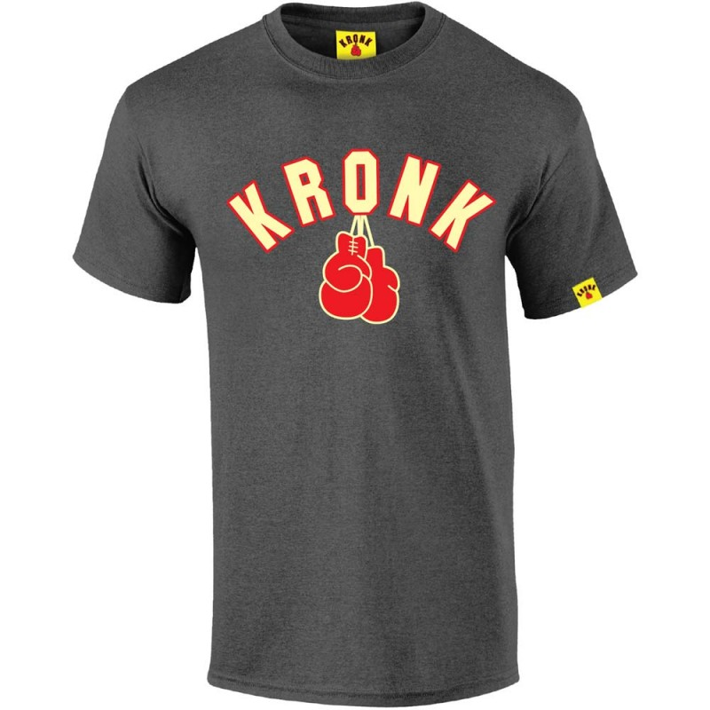 Kronk Gloves T-Shirt Charcoal Melange