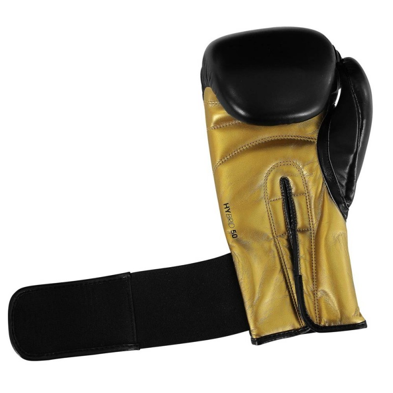 Adidas Hybrid 50 Boxhandschuhe Schwarz Gold