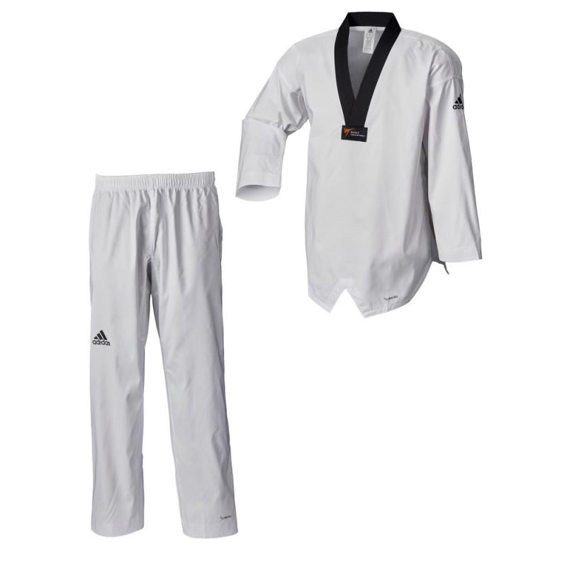 Adidas Taekwondoanzug adi Fighter Eco WT schwarzes Revers