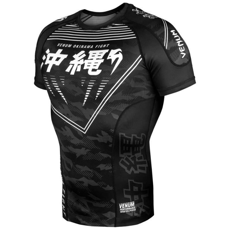 Venum Okinawa 2.0 Rashguard SS Black White