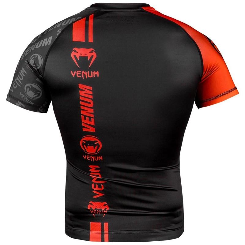 Venum Logos Rashguard SS black red