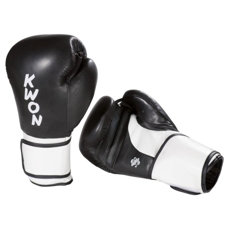 kwon super champ boxhandschuhe schwarz weiss g nstig. Black Bedroom Furniture Sets. Home Design Ideas